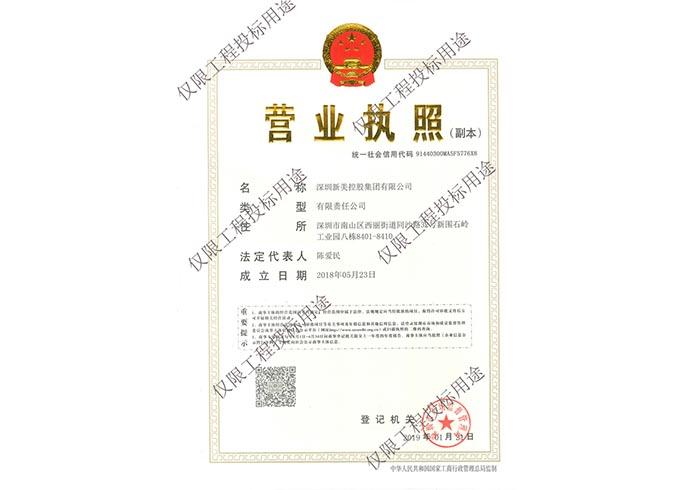 新美控股集团营业执照